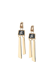 Robert Lee Morris - Topaz & Black Diamond & Gold Linear Earrings