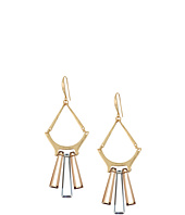 Robert Lee Morris - Topaz & Black Diamond & Gold Chandelier Earrings