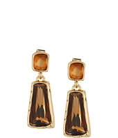 Robert Lee Morris - Topaz & Gold Stone Double Drop Earrings