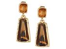Robert Lee Morris - Topaz & Gold Stone Double Drop Earrings
