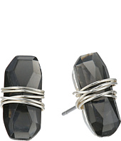 Robert Lee Morris - Black Diamond & Silver Wire Wrapped Stud Earrings