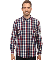6PM: Nautica Long Sleeve Large Plaid Shirt 男士衬衫, 原价$69.5, 现仅售$27.99