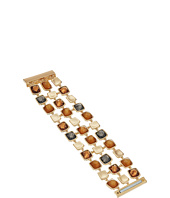 Robert Lee Morris - Topaz & Black Diamond & Gold Square Magnetic Bracelet