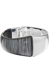 Robert Lee Morris - Grey & Silver Hinged Bangle Bracelet