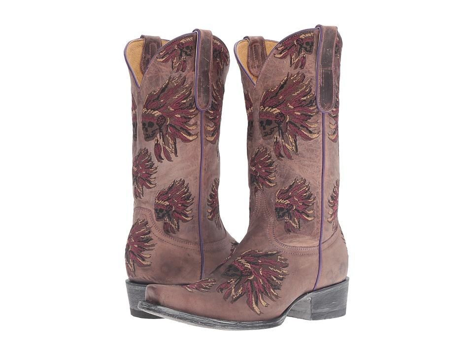 Old Gringo Moki (Tan/Lilac) Cowboy Boots