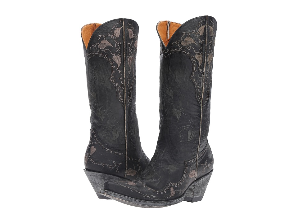 Old Gringo Hearth Leaves (Black) Cowboy Boots