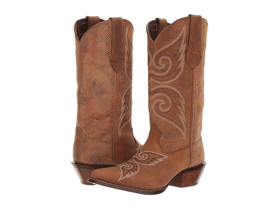 Durango Crush 12 Mixer (Tan/Snake) Cowboy Boots