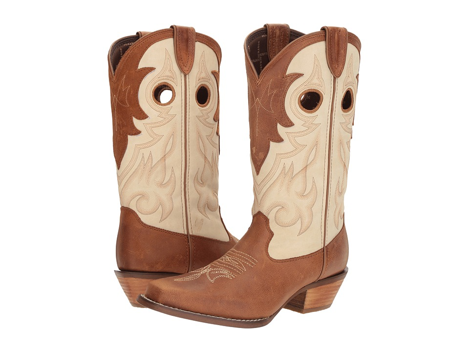 Durango Crush 12 Off the Collar (Tan/Cream) Cowboy Boots