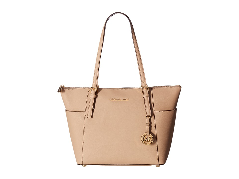 Michael Kors Jet Set Item East West Top-Zip Tote (Oyster)...
