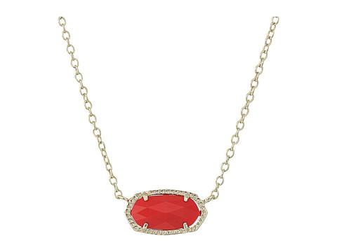 Kendra Scott Elisa Pendant Necklace - Gold/Bright Red
