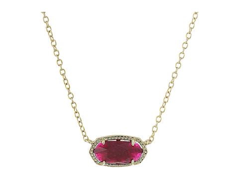 Kendra Scott Elisa Pendant Necklace - Gold/Maroon Jade
