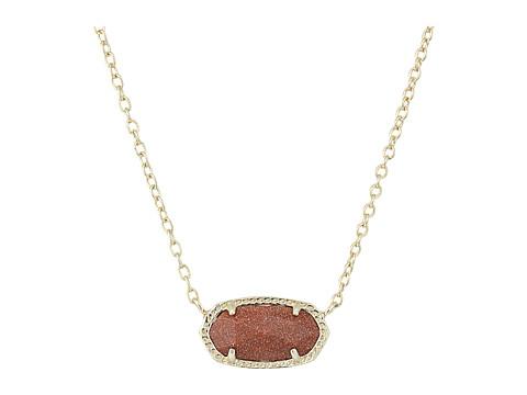 Kendra Scott Elisa Pendant Necklace - Gold/Orange Goldstone