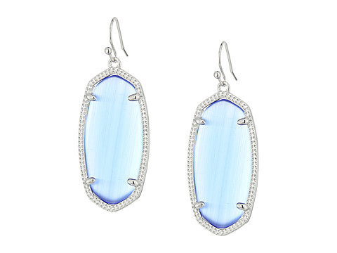 Kendra Scott Elle Earring - Rhodium/Periwinkle Cats Eye