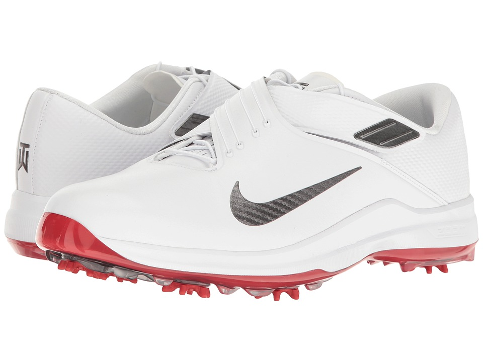 Nike Golf - Tiger Woods TW '17 (White/Met Dark Grey/Univeristy Red) Mens Golf Shoes