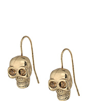 Betsey Johnson - Gold Skull Drop Earrings