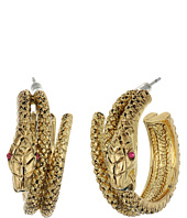 Betsey Johnson - Gold Snake Hoop Earrings