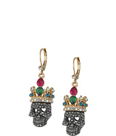 Betsey Johnson - Multi Crown Skull Drop Earrings