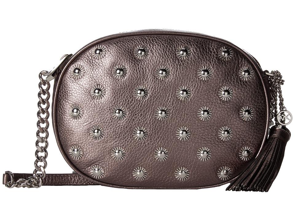 MICHAEL Michael Kors Ginny Studded Medium Messenger (Cinder) Messenger Bags