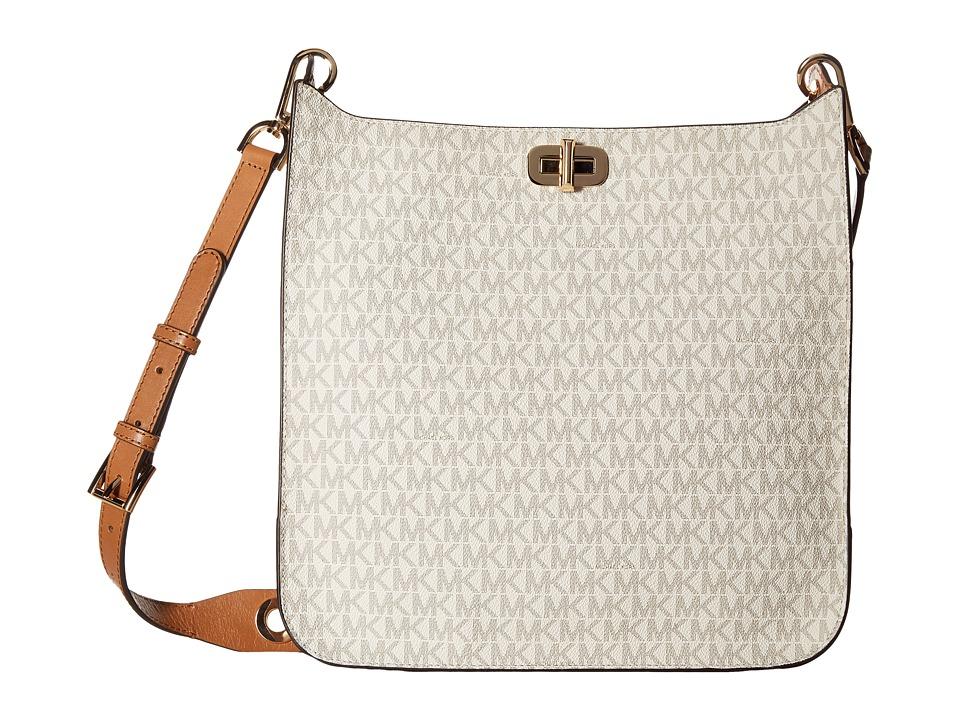 MICHAEL Michael Kors Sullivan Large North/South Messenger (Vanilla) Messenger Bags