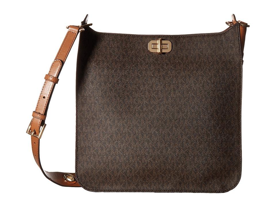 MICHAEL Michael Kors Sullivan Large North/South Messenger (Brown) Messenger Bags