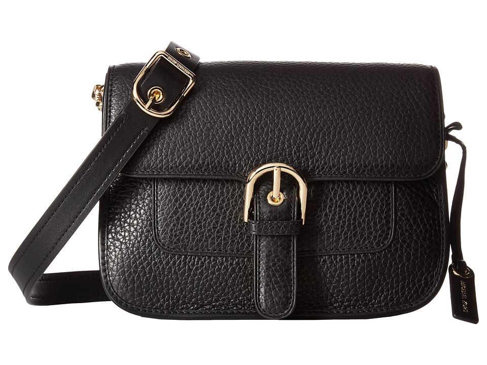 MICHAEL Michael Kors Cooper Medium Messenger (Black) Messenger Bags
