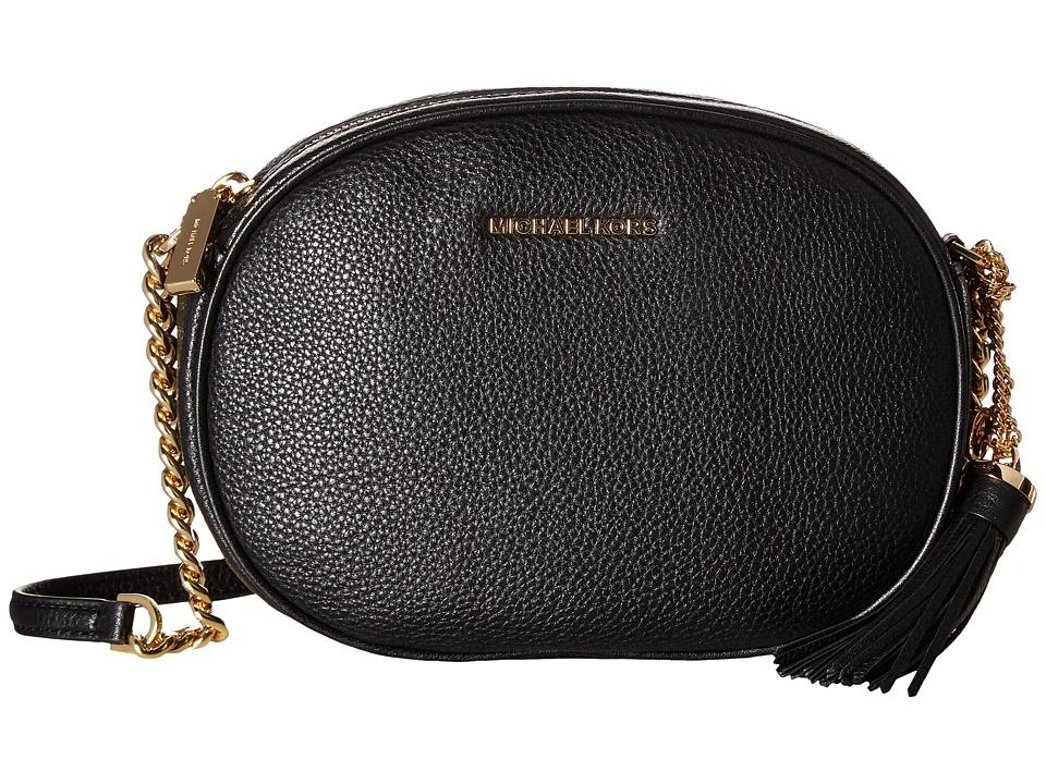 MICHAEL Michael Kors Ginny Medium Messenger (Black) Messenger Bags