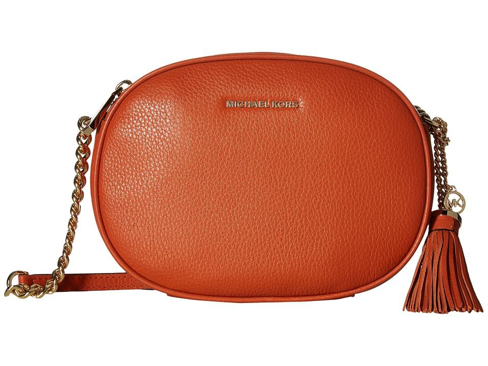 MICHAEL Michael Kors Ginny Medium Messenger (Orange) Messenger Bags