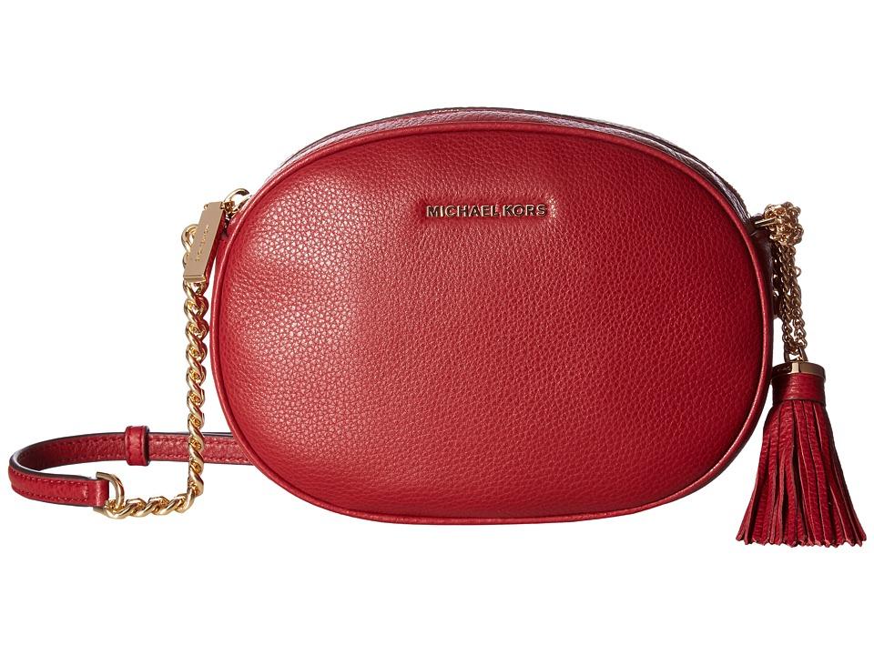 MICHAEL Michael Kors Ginny Medium Messenger (Cherry) Messenger Bags
