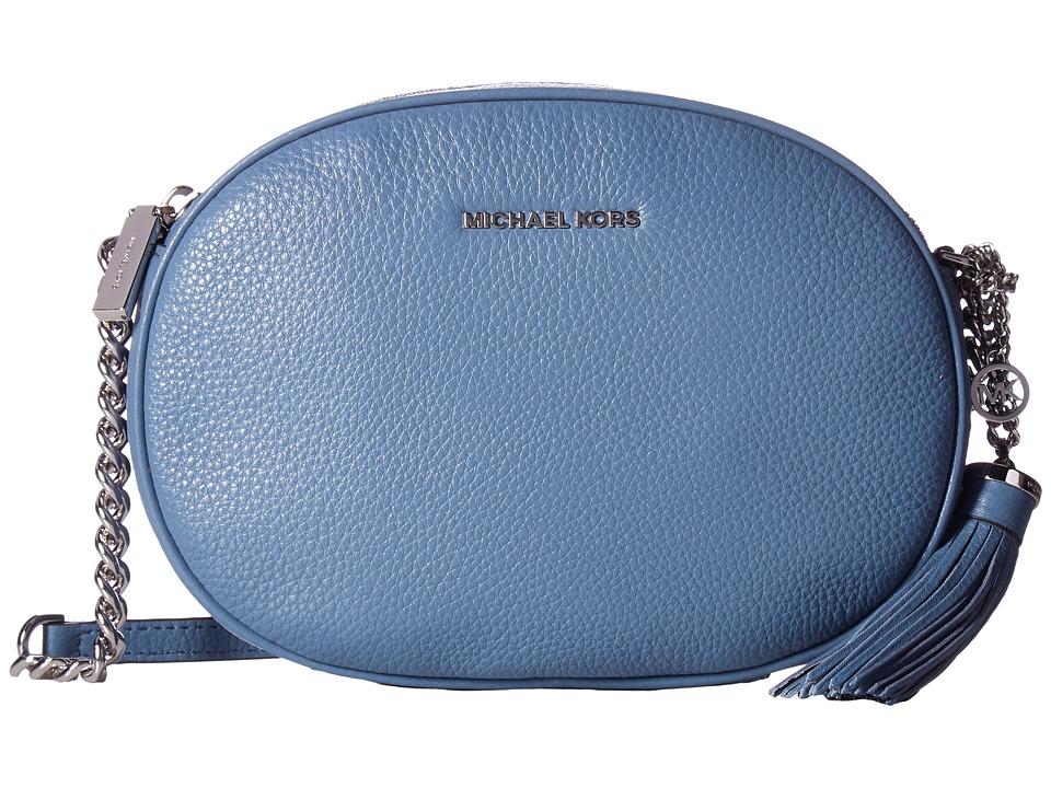 MICHAEL Michael Kors Ginny Medium Messenger (Denim) Messenger Bags