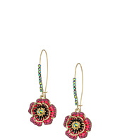 Betsey Johnson - Multi Flower Shepherd's Hook Earrings