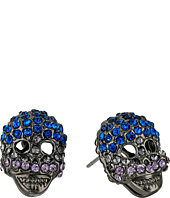 Betsey Johnson - Multi Hematite Skull Stud Earrings