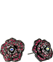 Betsey Johnson - Multi Rose Button Earrings