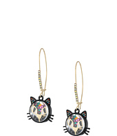 Betsey Johnson - Multi Shaky Cat Shepherd's Hook Earrings