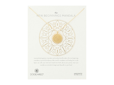 Dogeared New Beginnings Mandala Center Star Necklace - Gold Dipped