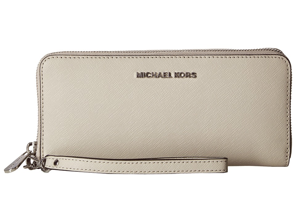 MICHAEL Michael Kors Jet Set Travel Travel Continental (Cement) Clutch Handbags