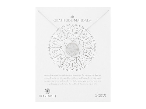 Dogeared Gratitude Mandala Center Flower Necklace - Sterling Silver