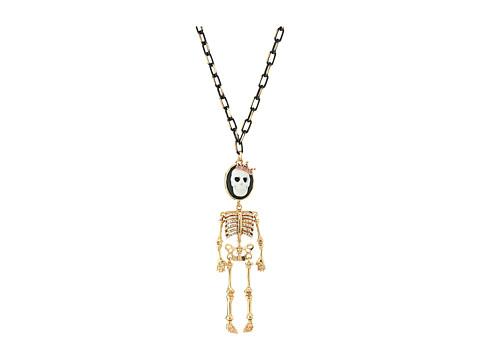 Betsey Johnson Cameo Skull Long Pendant Necklace