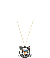 Betsey Johnson - Multi Shaky Cat Pendant Necklace
