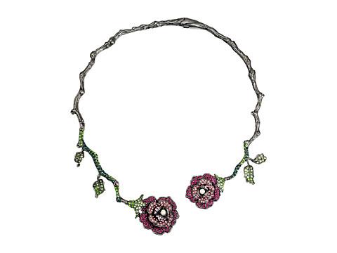 Betsey Johnson Rose Vine Hard Collar Necklace
