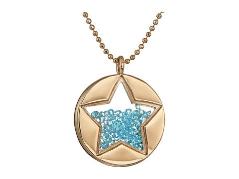Betsey Johnson Blue Shaky Star Pendant Necklace