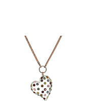 Betsey Johnson - Multi Lucite Heart Pendant Necklace