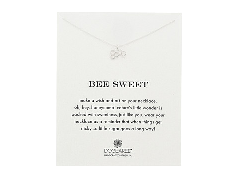 Dogeared Bee Sweet Honeycomb Reminder Necklace - Sterling Silver