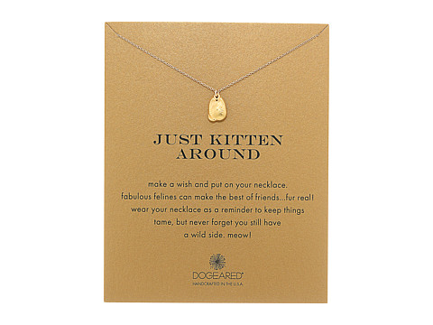 Dogeared Just Kitten Around Reminder Necklace - Gold Dipped