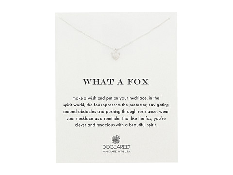 Dogeared What A Fox Reminder Necklace - Sterling Silver