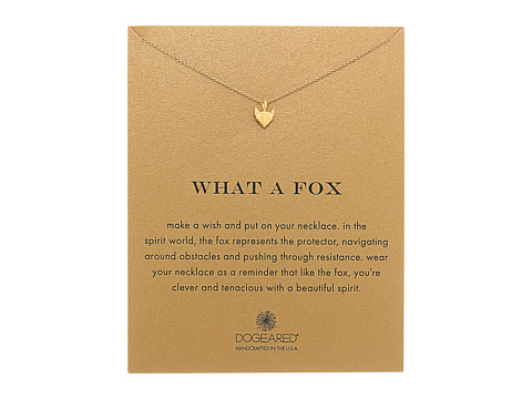 Dogeared What A Fox Reminder Necklace - Gold Dipped