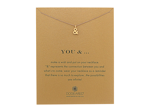 Dogeared You and Ampersand Reminder Necklace - Gold Dipped