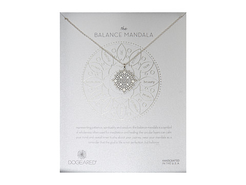 Dogeared Balance Mandala Center Circle Necklace - Sterling Silver