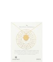 Balance Mandala Center Circle Necklace  Gold