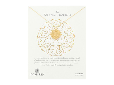 Dogeared Balance Mandala Center Circle Necklace - Gold Dipped