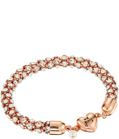 Betsey Johnson - Rose Gold/Crystal Heart Magnet Bracelet